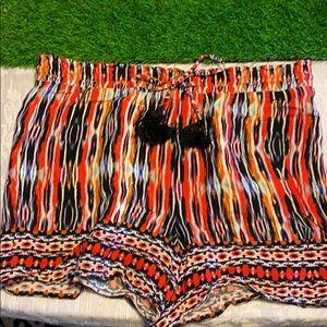 Ella Moss EUC multi-stripe shorts